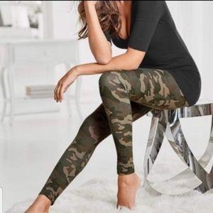 Leggings High Waist Camo Camouflage Army Print OS
